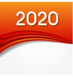 2020 abstract new year on background vector