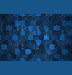 3d technology hexagonal abstract background vector image