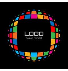 Abstract Bright Rainbow Halftone Logo vector