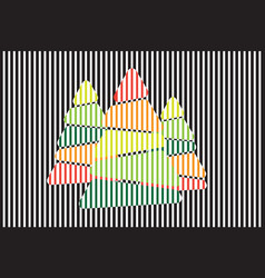 Abstract christmas tree with background vector