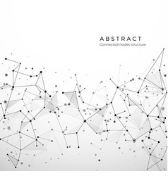 Abstract plexus structure digital data web and vector