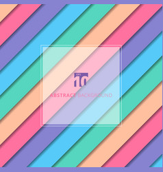 abstract striped geometric pastel color pattern vector image