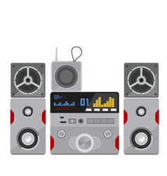 acoustic sound system stereo flat music vector image