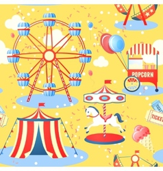 Amusement park seamless pattern vector image