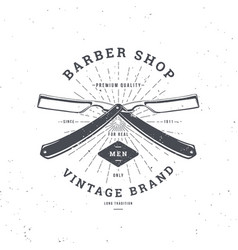 Barber shop double razor vector