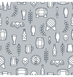 Beer seamless pattern with flat element vector