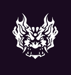 black and white oni used for logos and other vector image
