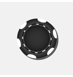 Black poker chip vector image