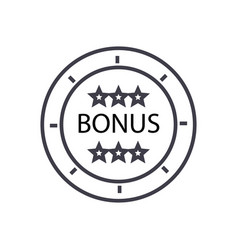 bonus coin concept thin line icon symbol vector image