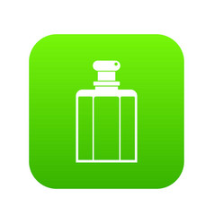 bottle of female perfume icon digital green vector image