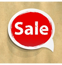 Cardboard Structure With Sale Speech Bubble vector image