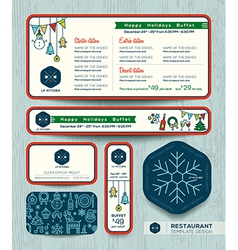 Christmas party restaurant menu set design templat vector