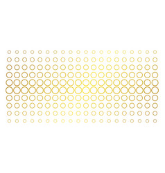 circle bubble gold halftone effect vector image