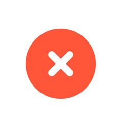 close icon red delete symbol sign vector image