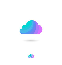 cloud icon web storage conservation weather vector image