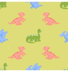Colored cartoon dinosaurs vector image