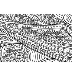 coloring book page with black and white line art vector image