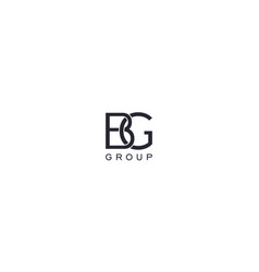 Creative and abstract b g letter for business vector