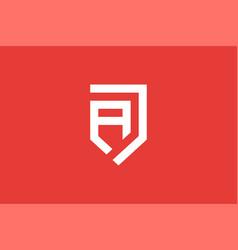 Creative modern monogram logo letter a j simple vector
