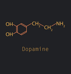 dopamine icon vector image