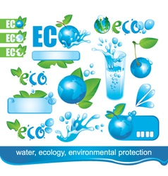 ecology and environment vector image