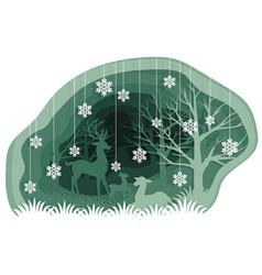 family of deer vector image