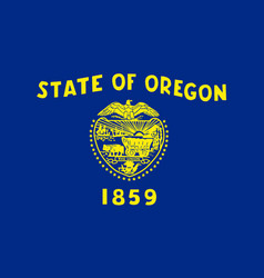 Flag of the usa state of oregon vector