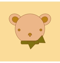 Flat icon on background kids toy bear vector