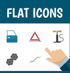 flat icon service set of coupler belt automobile vector image