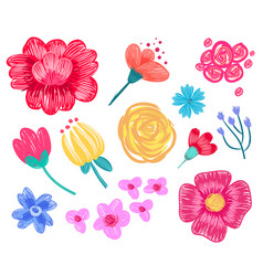 Floral patterns collection on vector