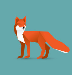 Fox in paper cut style eps10 vector
