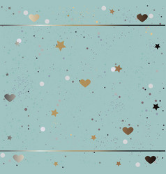 Funky pattern with golden shimmering elements vector