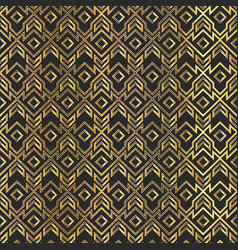 gold vintage geometric seamless pattern vector image