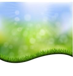 Grass border nature background vector