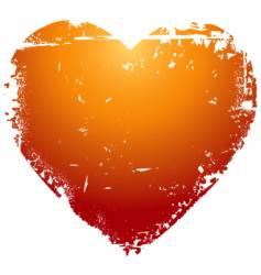 grunge Valentine's heart vector image