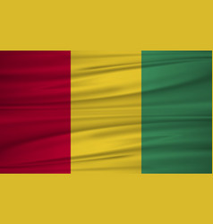 guinea flag flag of guinea blowig in the wind vector image