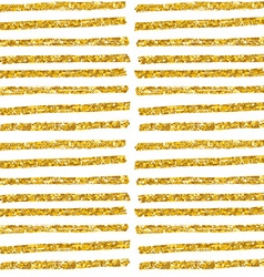 Hand drawn seamless gold glitter pattern brush vector image
