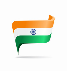 Indian flag map pointer layout vector