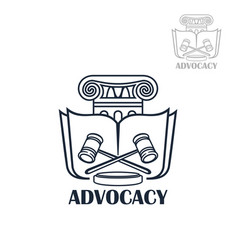 law firm and lawyer office emblem design vector image