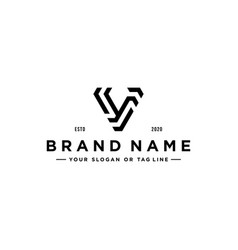 Letter v modern logo design vector