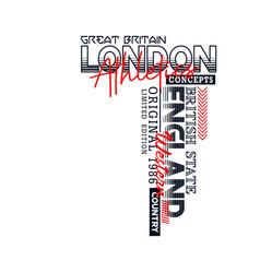 london sport typography design vector image