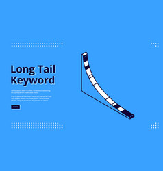 long tail keyword banner with isometric chart vector image