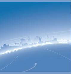 Los angeles skyline aerial view vector