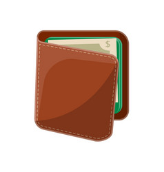 male leather wallet isolated icon vector image