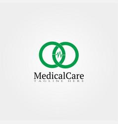 Medical icon templatemedical care logocreative vector