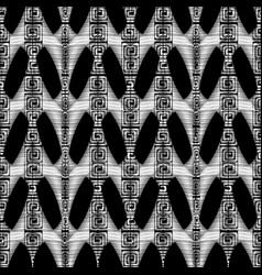 modern geometric seamless pattern black white vector image