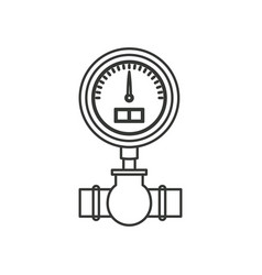 Monochrome silhouette of water meter vector