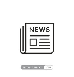 news newspaper line web newsletter and app linear vector image
