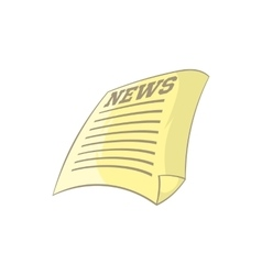 Newspaper icon cartoon style vector image