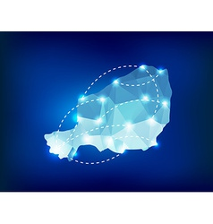 Niger country map polygonal with spot lights vector